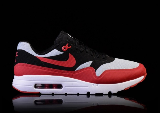 new styles 0723c 8a2e9 NIKE AIR MAX 1 ULTRA ESSENTIAL GYM RED-BLACK-WHITE