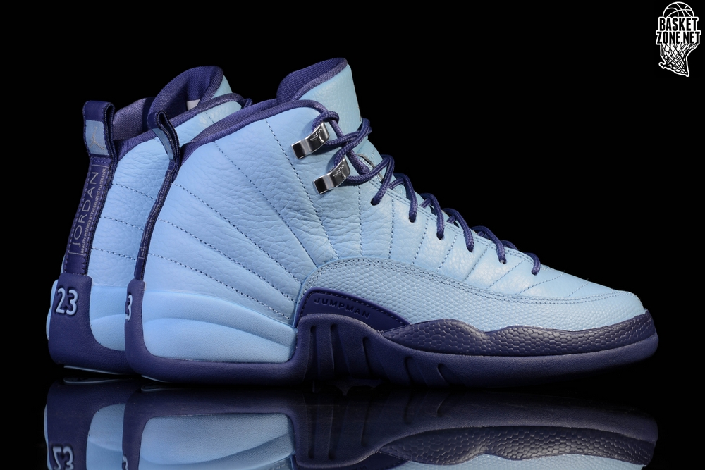 sale retailer 3db83 42727 NIKE AIR JORDAN 12 RETRO NORTH CAROLINA TAR HEELS BG (SMALLER SIZES)