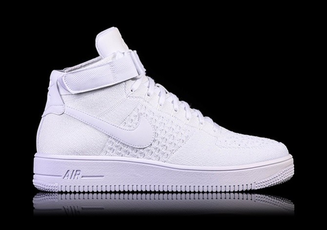 check out 83119 a442b NIKE AIR FORCE 1 ULTRA FLYKNIT MID WHITE