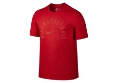 NIKE DRY BASKETBALL CORE PRACTICE TEE UNIVERSITY RED