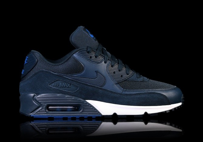 finest selection 6e9ea ebe01 NIKE AIR MAX 90 ESSENTIAL NAVY BLUE