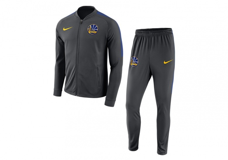 NIKE NBA GOLDEN STATE WARRIORS DRY TRACKSUIT GREY