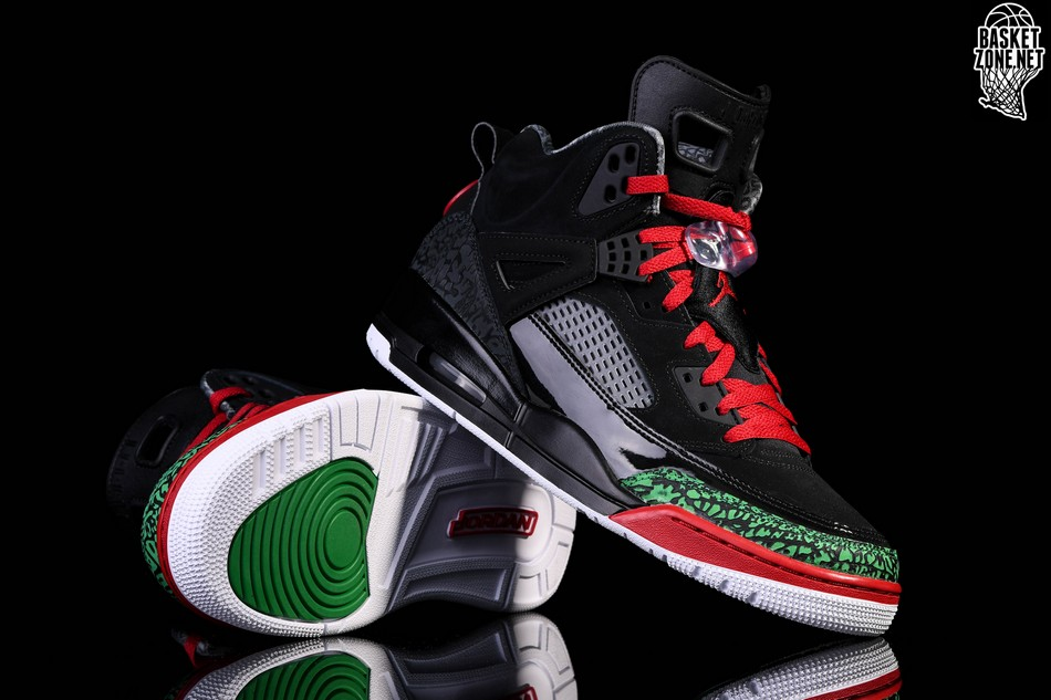 30ff9eb22 NIKE AIR JORDAN SPIZIKE BLACK RED POISON GREEN price €145.00 ...