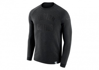 NIKE NBA BOSTON CELTIC MODERN CREW BLACK HEATHER