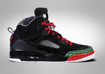 NIKE AIR JORDAN SPIZIKE BG BLACK RED POISON GREEN