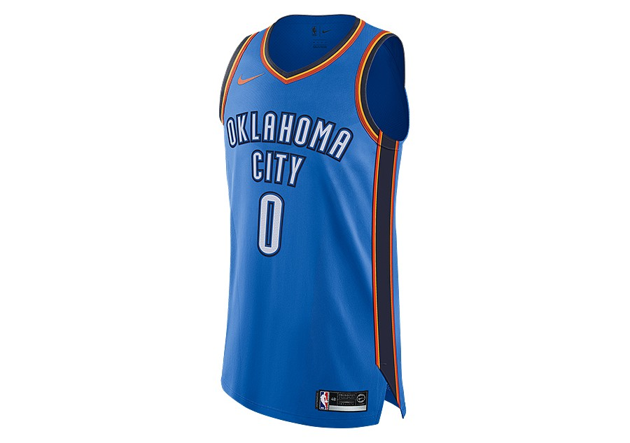 ... ireland nike nba connected oklahoma city thunder russell westbrook  authentic jersey road signal blue 0b1c3 45d7a cdd86eb21