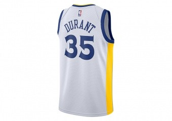 3962e3b7b88 NIKE NBA GOLDEN STATE WARRIORS KEVIN DURANT SWINGMAN JERSEY HOME WHITE
