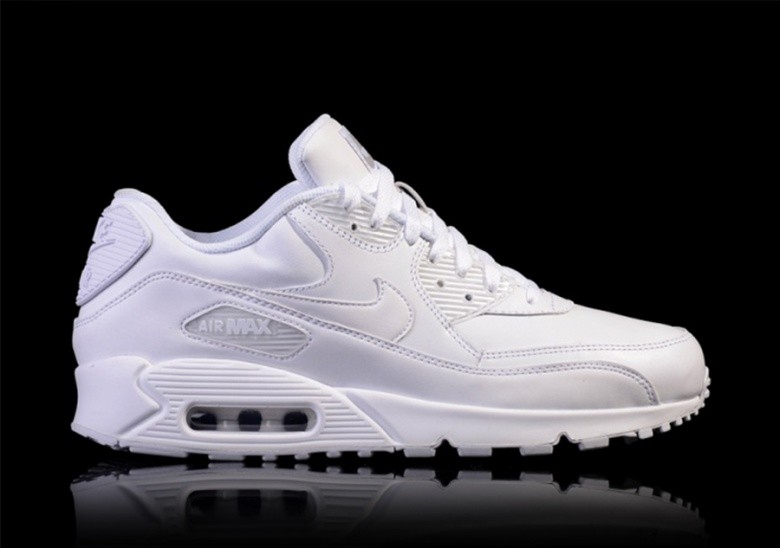 nike air max all white leather