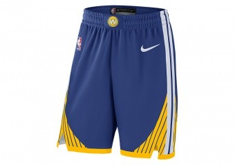 NIKE NBA GOLDEN STATE WARRIORS AUTHENTIC SHORTS ROAD RUSH BLUE