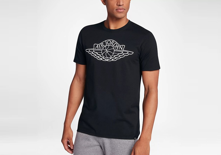 447bdafd1c877a NIKE AIR JORDAN SPORTSWEAR WINGS BRAND 5 TEE BLACK price €25.00 ...