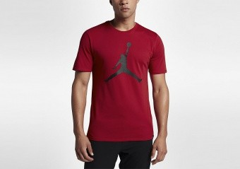 NIKE AIR JORDAN SPORTSWEAR BRAND 6 TEE GYM RED