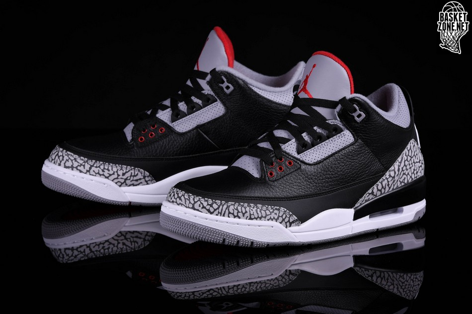 official photos 48e07 6c8ca NIKE AIR JORDAN 3 RETRO BLACK CEMENT