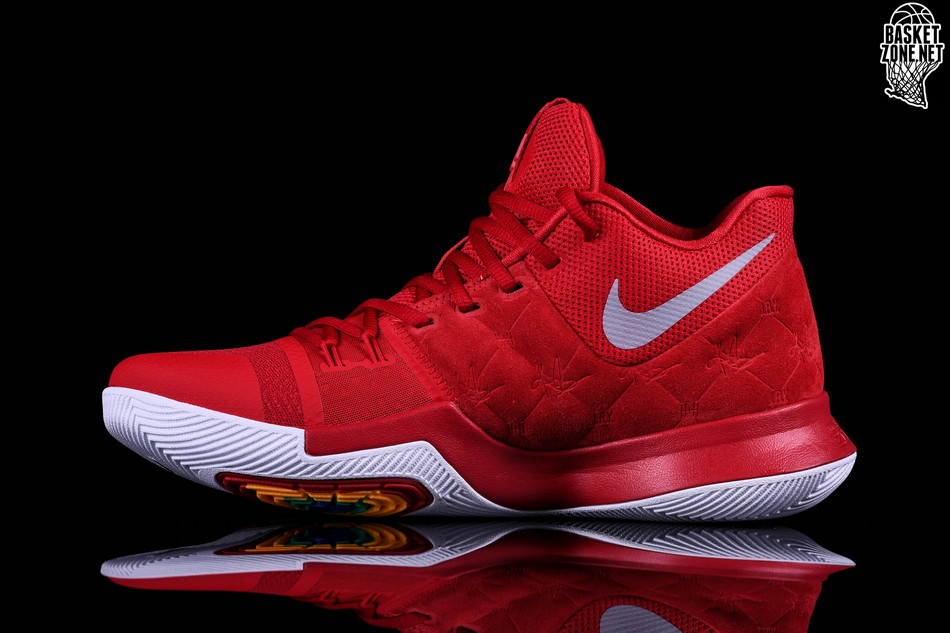 new style 31296 6a7bd NIKE KYRIE 3 RED SUEDE