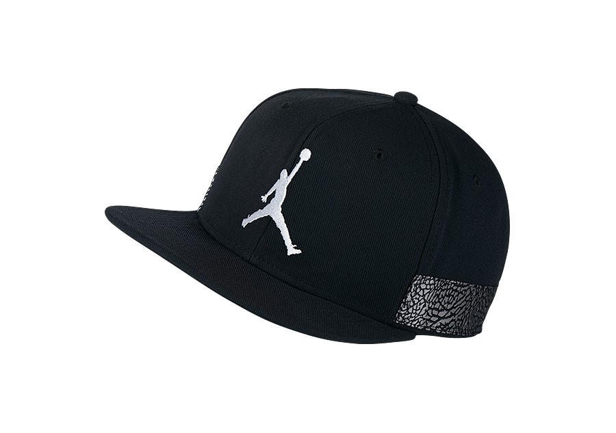 8e3b80260e9413 NIKE AIR JORDAN JUMPMAN PRO AJ 3 CAP BLACK price €32.50