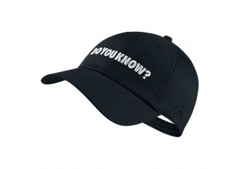 NIKE AIR JORDAN HERITAGE86 'DO YOU KNOW?' HAT BLACK
