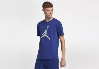 NIKE AIR JORDAN SPORTSWEAR BRAND 6 TEE DEEP ROYAL BLUE