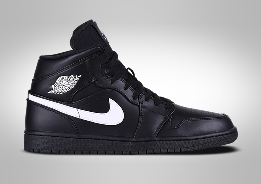 detailed look fa9af c24d1 NIKE AIR JORDAN 1 RETRO MID BLACK WHITE pour €109,00 | Basketzone.net