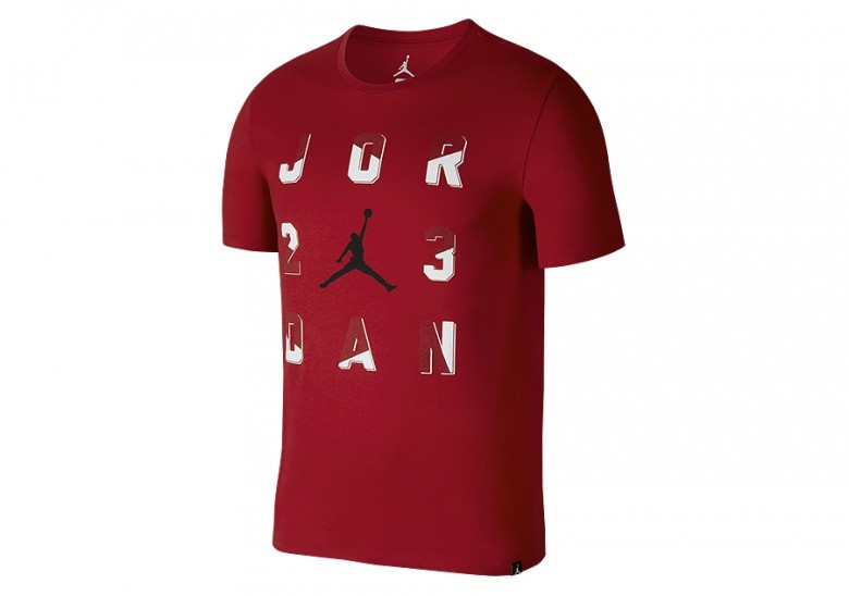 NIKE AIR JORDAN 23 SPORTSWEAR TEE GYM RED