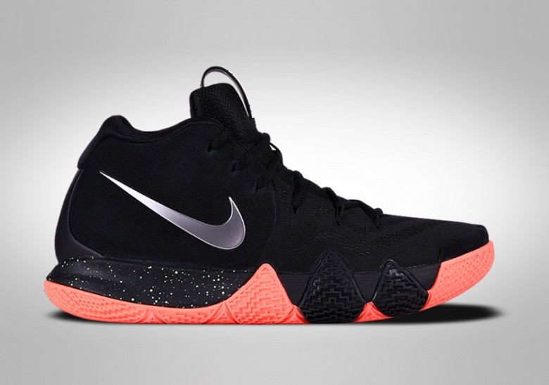 NIKE KYRIE 4 BLACK SILVER ORANGE