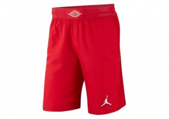 NIKE AIR JORDAN ULTIMATE FLIGHT BASKETBALL SHORTS GYM RED
