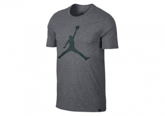 NIKE AIR JORDAN SPORTSWEAR ICONIC JUMPMAN TEE CARBON HEATHER
