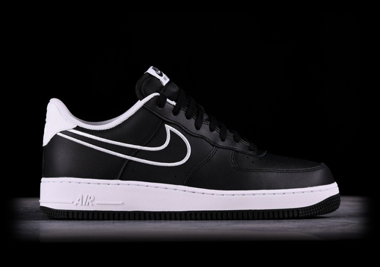 low priced 1db7f 4f4e0 NIKE AIR FORCE 1  07 LEATHER BLACK
