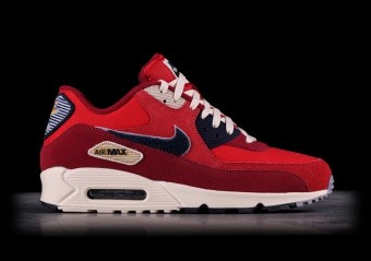 release date: 83a22 9099f NIKE AIR MAX 90 PREMIUM SE UNIVERSITY RED