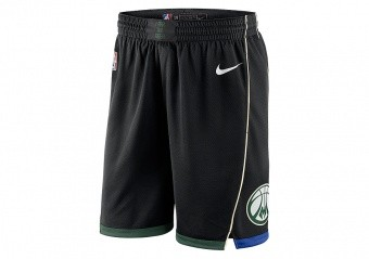 NIKE NBA MILWAUKEE BUCKS SWINGMAN SHORTS BLACK
