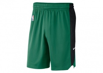 NIKE NBA BOSTON CELTICS PRACTICE SHORTS CLOVER