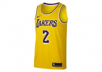 NIKE NBA LOS ANGELES LAKERS LONZO BALL SWINGMAN ROAD JERSEY AMARILLO