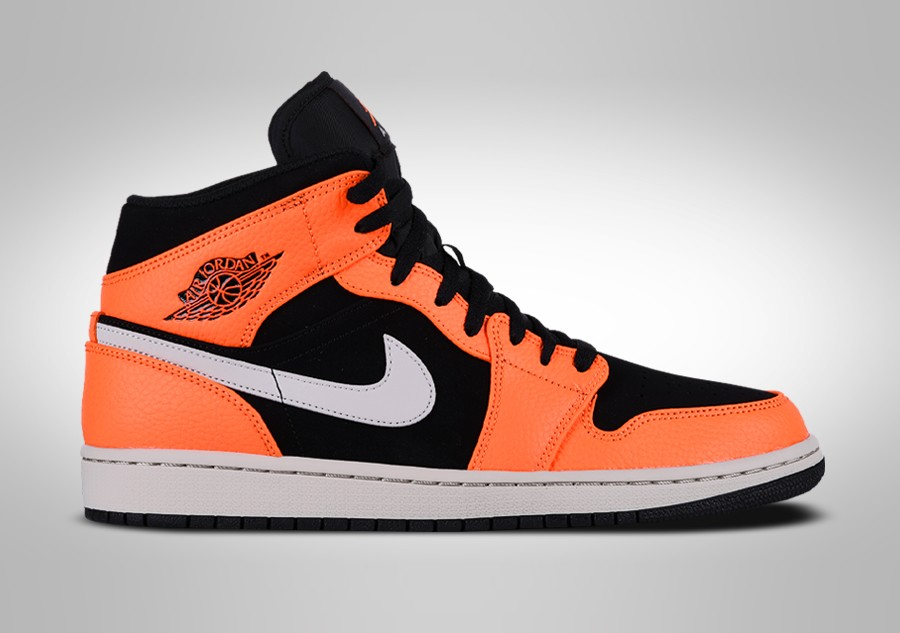 best sneakers 29a69 76b2c NIKE AIR JORDAN 1 RETRO MID BLACK ORANGE