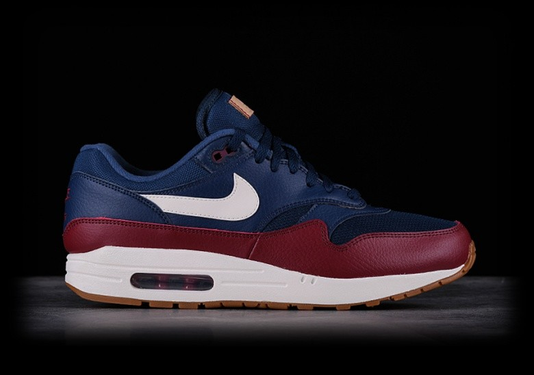 new concept 6adaf 9aa72 NIKE AIR MAX 1 NAVY TEAM RED