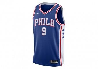 NIKE NBA PHILADELPHIA 76ERS DARIO ŠARIC SWINGMAN ROAD JERSEY RUSH BLUE
