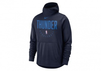 NIKE NBA OKLAHOMA CITY THUNDER SPOTLIGHT HOODIE COLLEGE NAVY