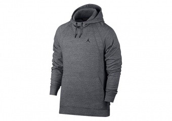 NIKE AIR JORDAN SPORTSWEAR WINGS FLEECE HOODIE CARBON HEATHER
