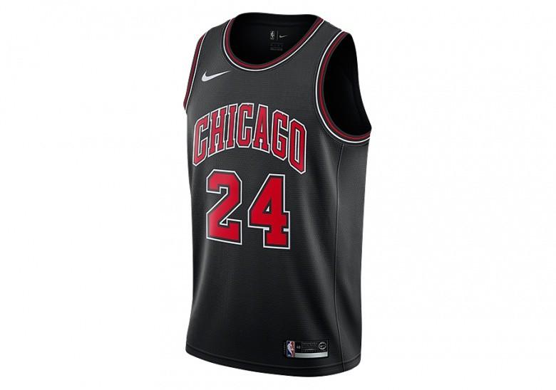 NIKE NBA CHICAGO BULLS LAURI MARKKANEN SWINGMAN JERSEY BLACK price ... 1cd4c1a27