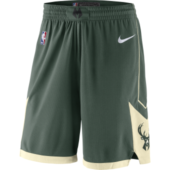 NIKE NBA MILWAUKEE BUCKS SWINGMAN ROAD SHORTS