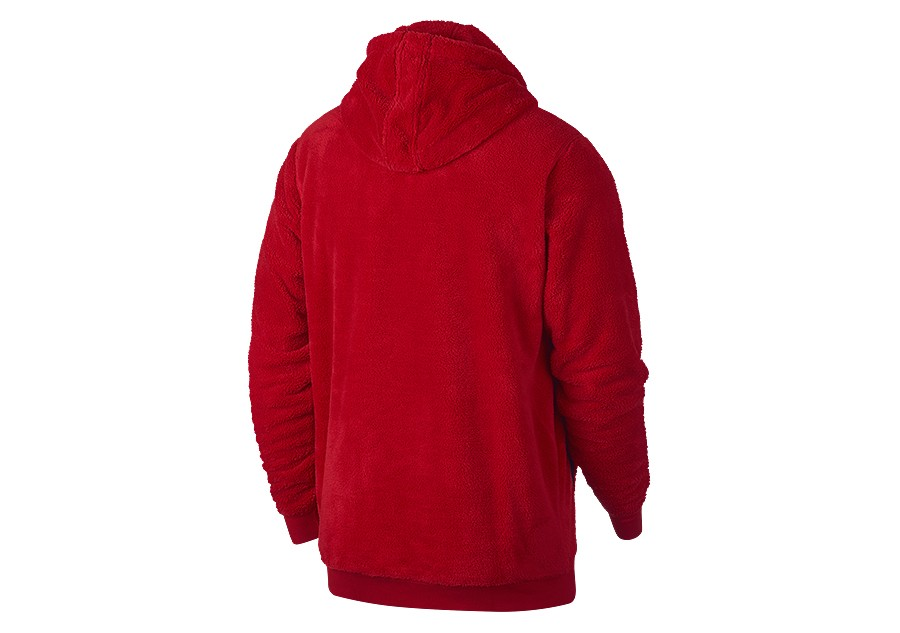 NIKE AIR JORDAN SPORTSWEAR WINGS OF FLIGHT HOODIE GYM RED