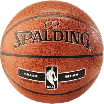 SPALDING NBA SILVER IN/OUT (SIZE 7)