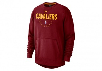NIKE NBA CLEVELAND CAVALIERS SPOTLIGHT CREW HOODIE TEAM RED
