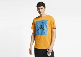 NIKE AIR JORDAN POOLSIDE TEE UNIVERSITY GOLD