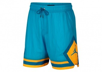 NIKE AIR JORDAN SPORTSWEAR DIAMOND POOLSIDE SHORTS LIGHT BLUE FURY