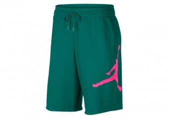 NIKE AIR JORDAN JUMPMAN FLEECE SHORTS MYSTIC GREEN
