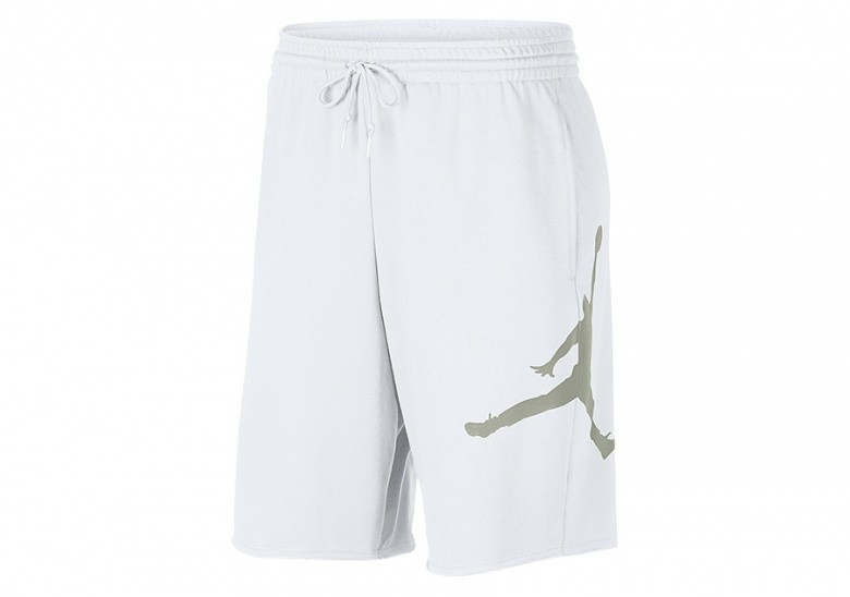 NIKE AIR JORDAN JUMPMAN FLEECE SHORTS WHITE