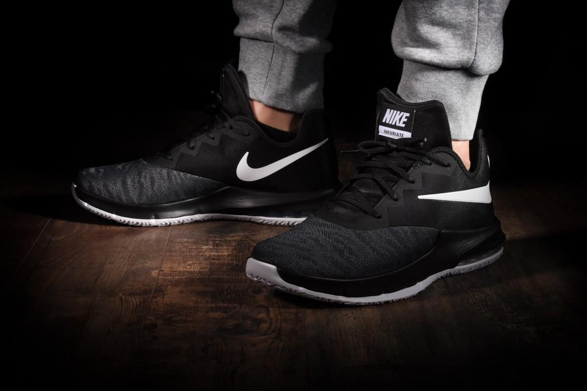 Nike Nike Air Max Infuriate III Low Shoes, WhiteBlack