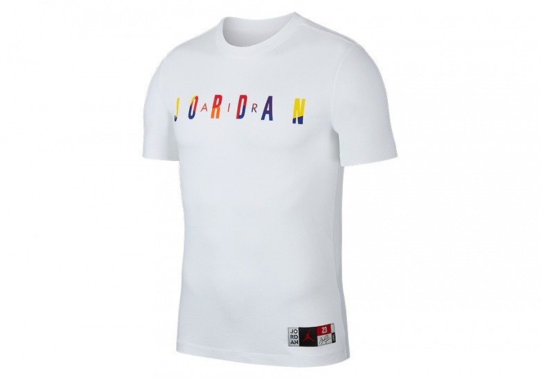 NIKE AIR JORDAN DNA CREW TEE WHITE