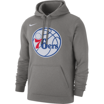 NIKE NBA PHILADELPHIA 76ERS PO CLUB FLEECE LOGO