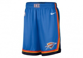 NIKE NBA OKLAHOMA CITY THUNDER SWINGMAN ROAD SHORTS SIGNAL BLUE