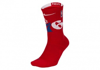 NIKE NBA PHILADELPHIA 76ERS ELITE CREW SOCKS UNIVERSITY RED