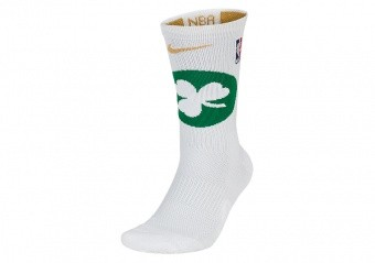 NIKE NBA BOSTON CELTICS ELITE CREW SOCKS WHITE
